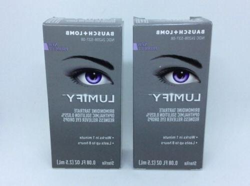 2 bausch lomb lumify redness reliever eye