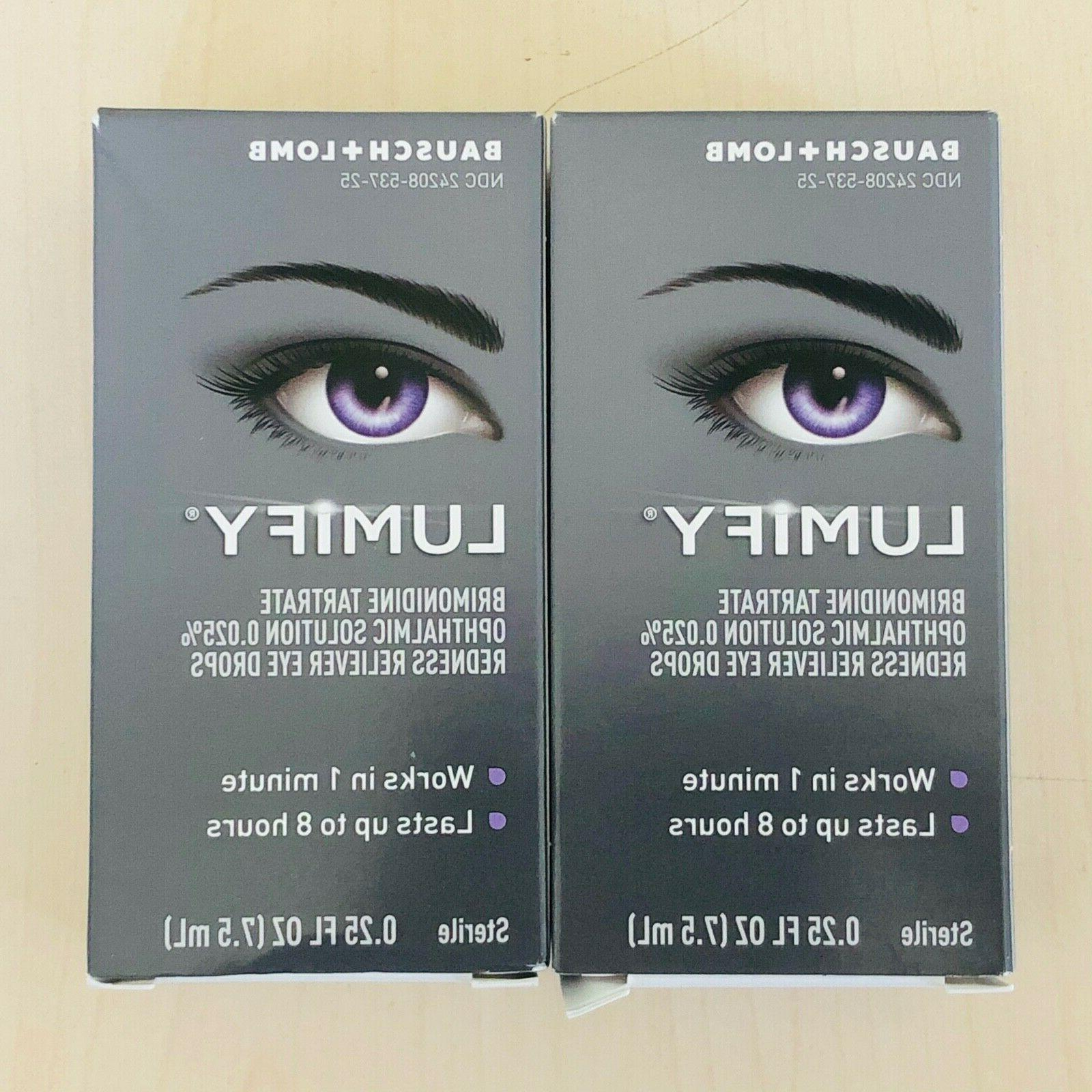 2 pack lumify redness reliever eye drops
