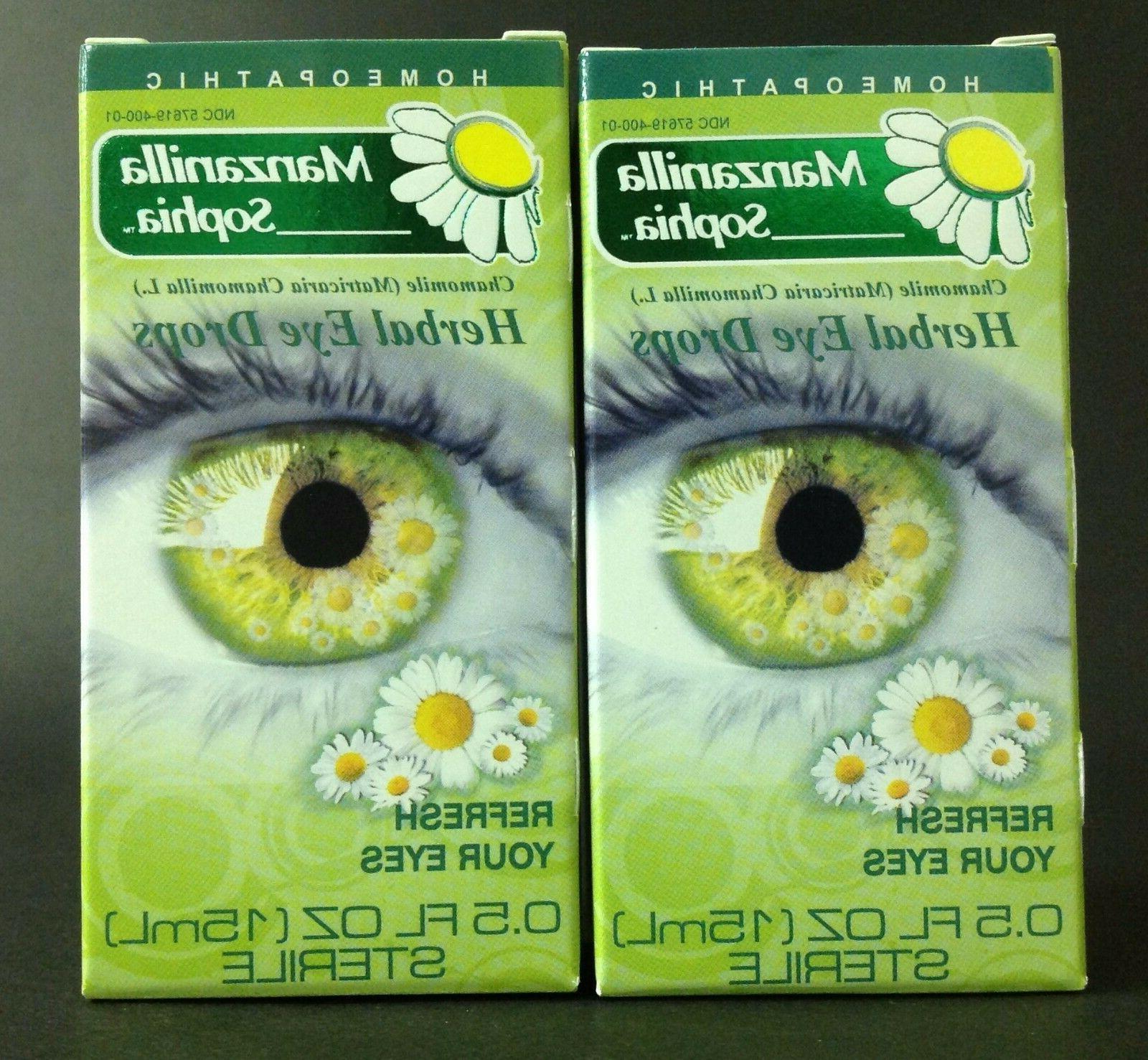 3 chamomile herbal eye drops