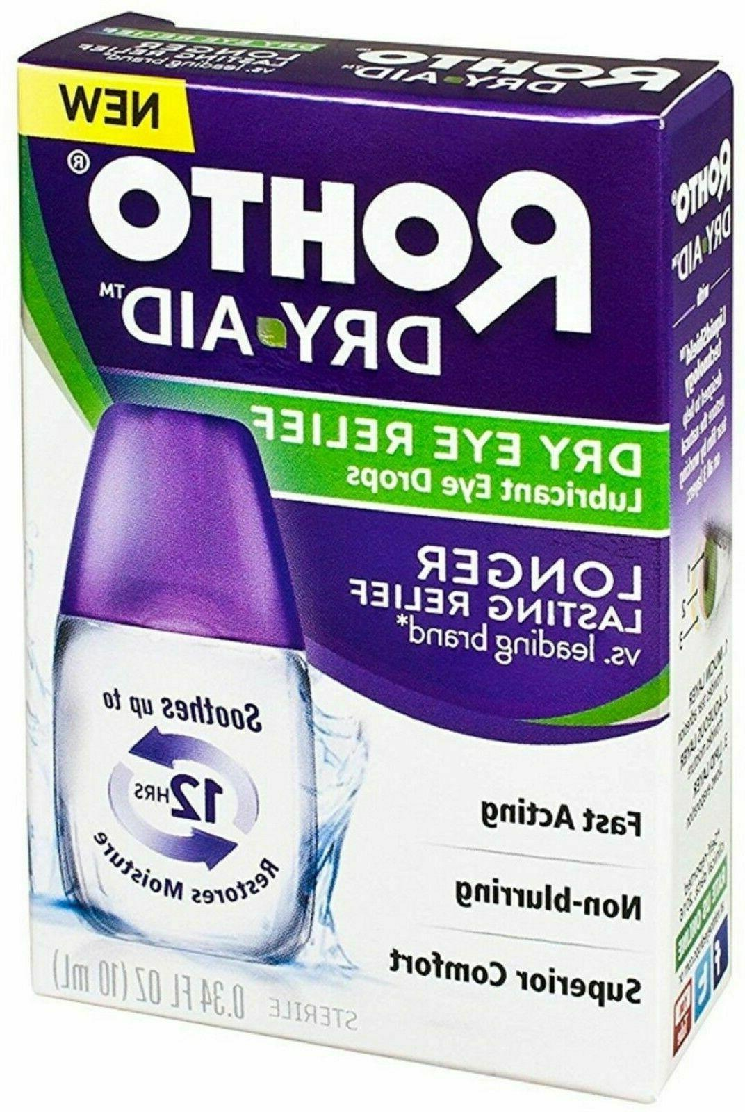 3 Pack Rohto Dry Aid Dry Eye Relief Lubricant Eye Drops 0.34