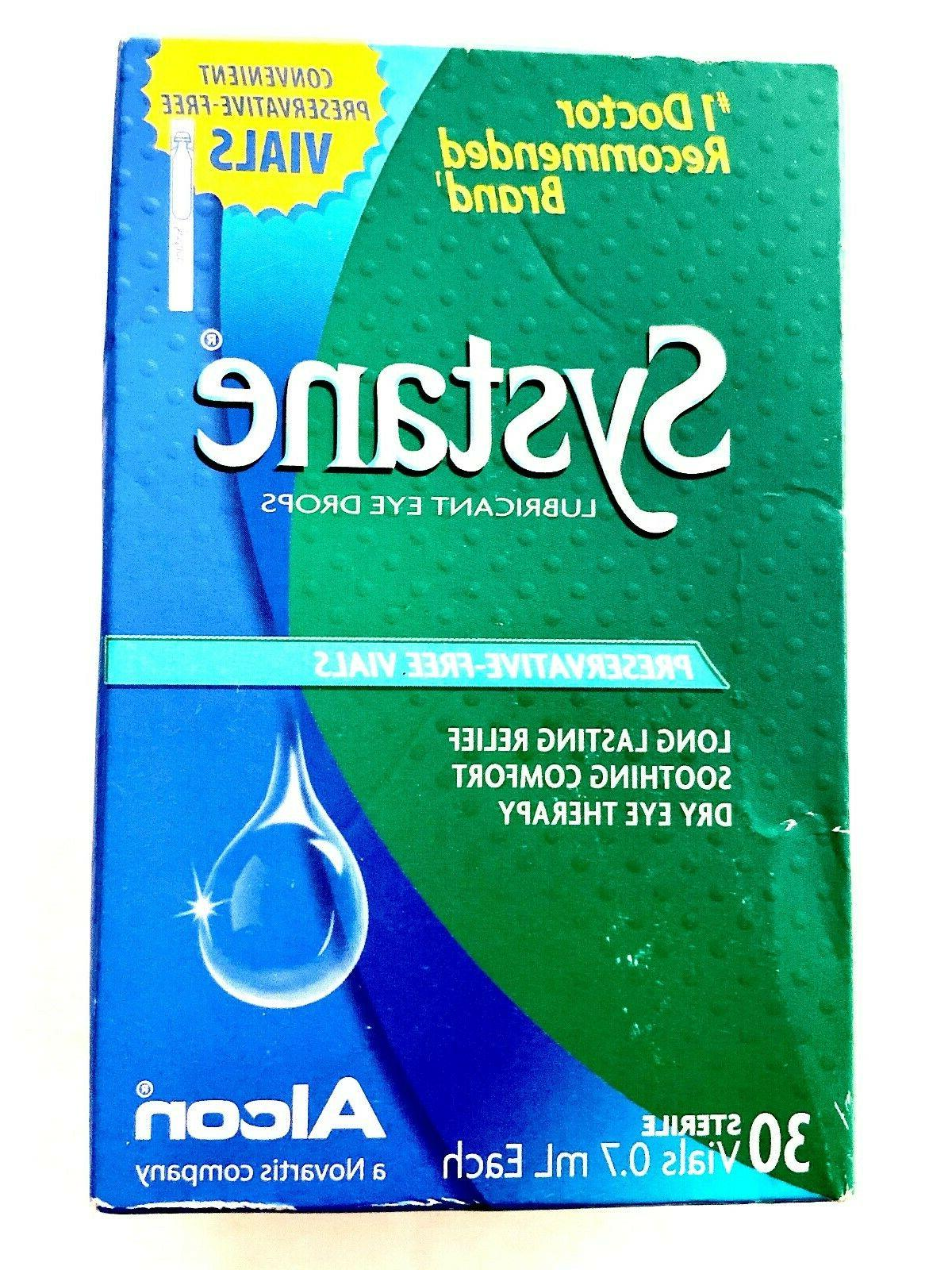 3 systane lubricant drops preservative