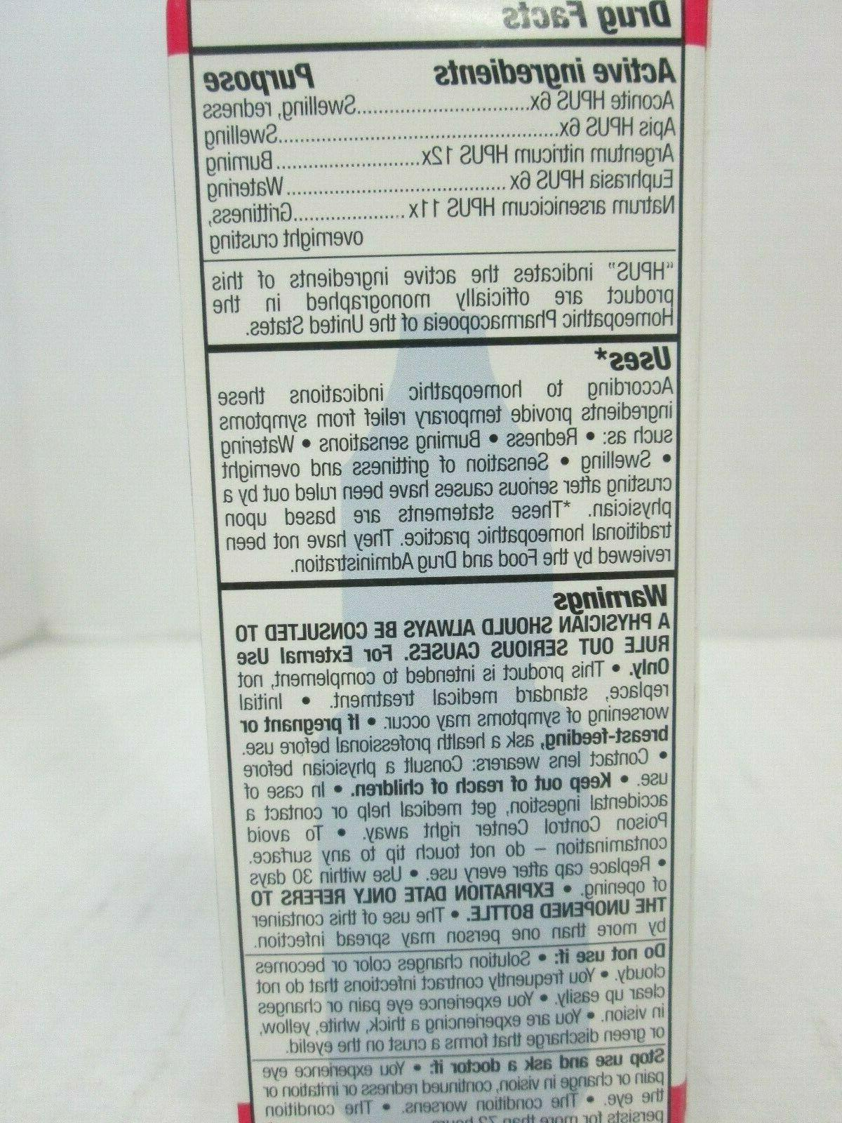 5 RELIEF HOMEOPATHIC STERILE EYE DROPS EA 6/20+ 2084
