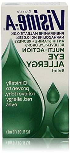 Visine-A Sterile Multi-Action Eye Allergy Relief Drops 1/2 O