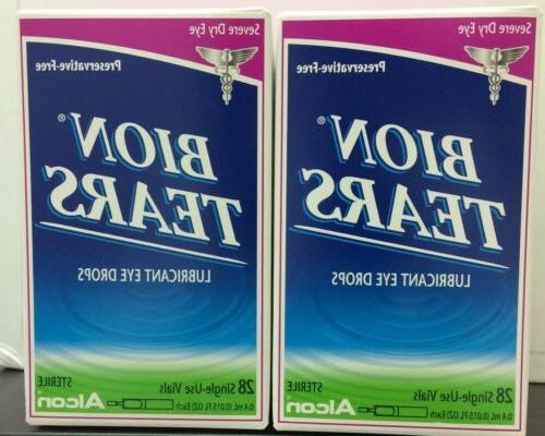 Bion Tears Lubricant Eye Drops Single Use Vials 28 Each by A