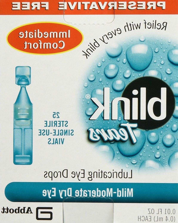 Blink Tears Use 25 0.01 Oz Free