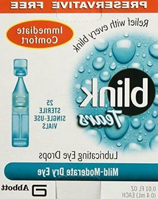 blink tears sterile single use