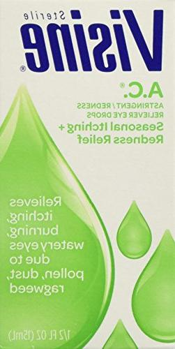 Visine A.C. Astringent / Redness Reliever Eye Drops - Season