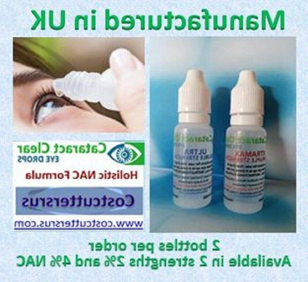 Cataract eye 4.2% NAC. Superb & on people & 2 15 ml bottles