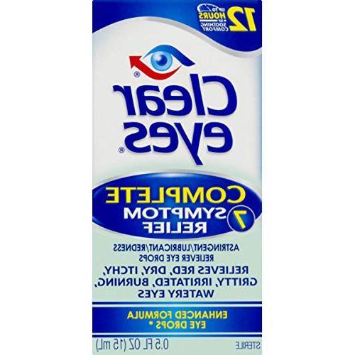 Clear Eyes 7 Symptom Enhanced Formula 0.5 Pack 3