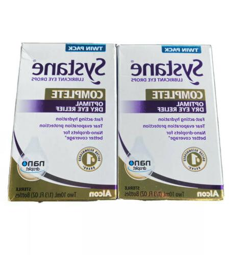 complete lubricant eye drops twin pack 10
