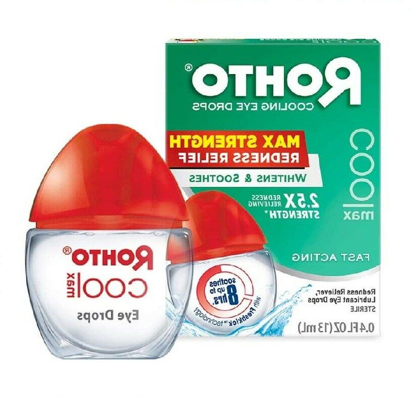cooling eye drops and redness relief maximum