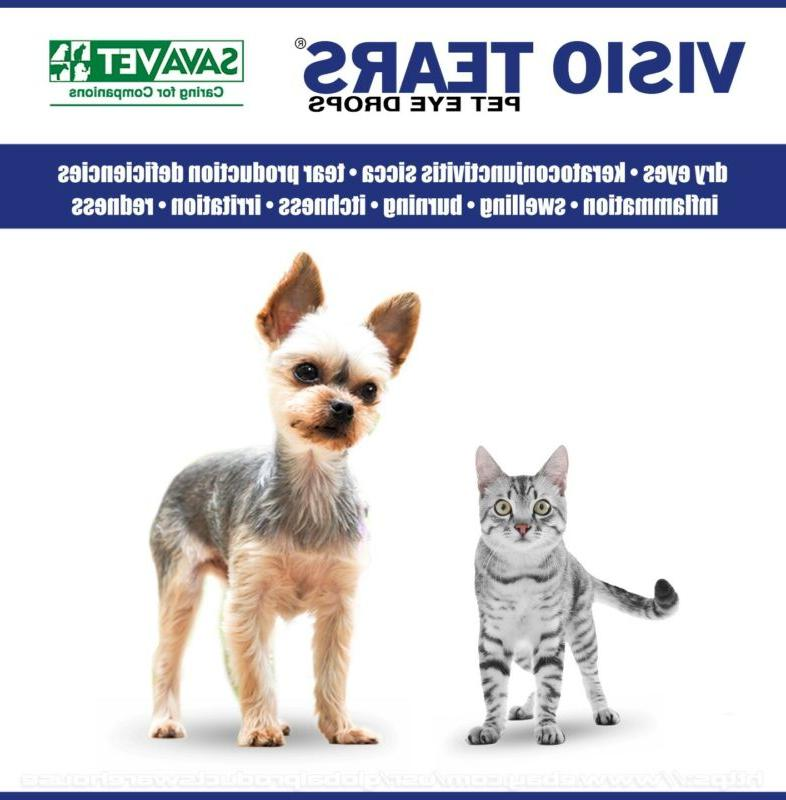 DOG CAT Eye Drops: Itch, Red, Conjunctivitis, KCS