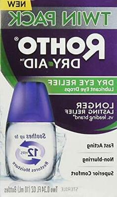 Rohto Dry Aid Lubricant Eye Drops, 0.34oz x 0.34oz, 2 Pack 3