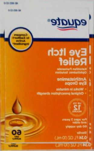 equate eye itch relief 60