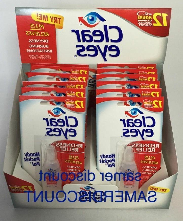 12 PACK CLEAR EYES DROPS REDNESS 0.2 OZ.6 UP TO