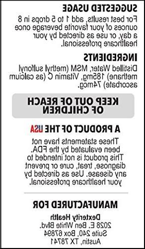 Liquid Drops 4 oz. Bottle   100% Sterile   Safe, and Non-GMO   Vitamin as Preservative   All-Natural Eye Care