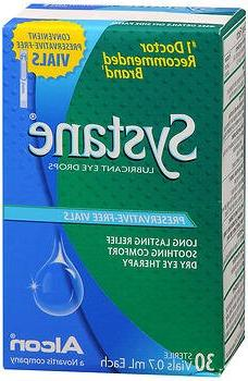 Systane Lubricant Eye Drops, Preservative-Free Vials - 30 ct