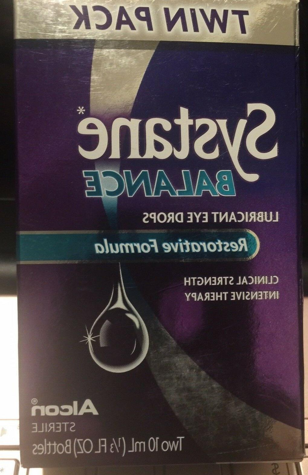 lubricant eye drops twin pack new 07