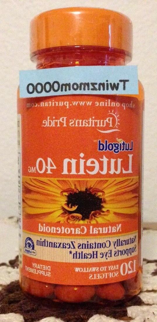 Puritan's Pride Lutein 40 mg with Zeaxanthin-120
