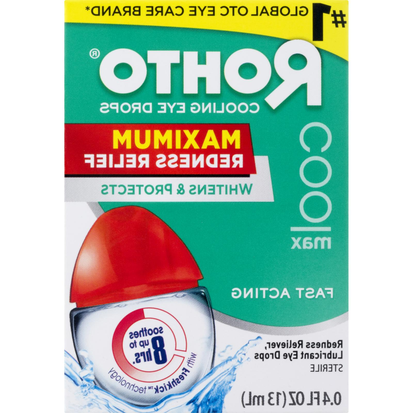 new maximum redness relief cooling eye drops