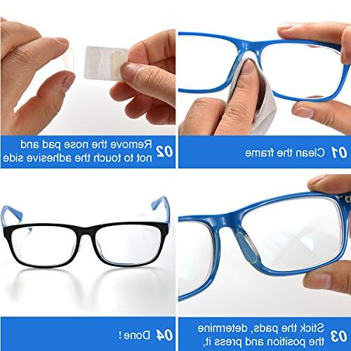 TOODOO Pads Adhesive Pads for Spectacles, Shape