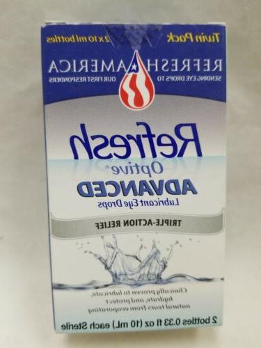 optive advanced lubricant eye drops 2 bottles
