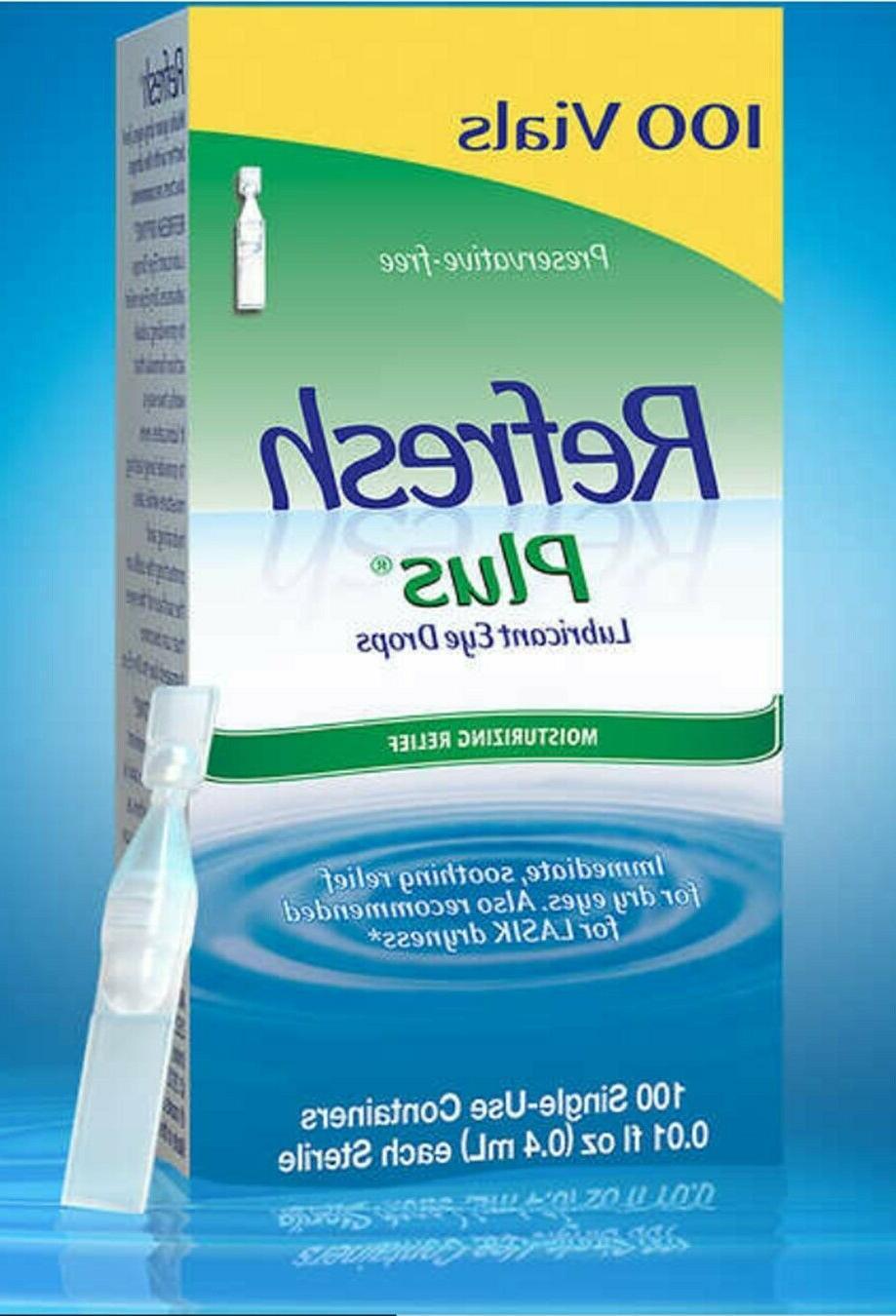 plus lubricant eye drops moisturizing relief 100