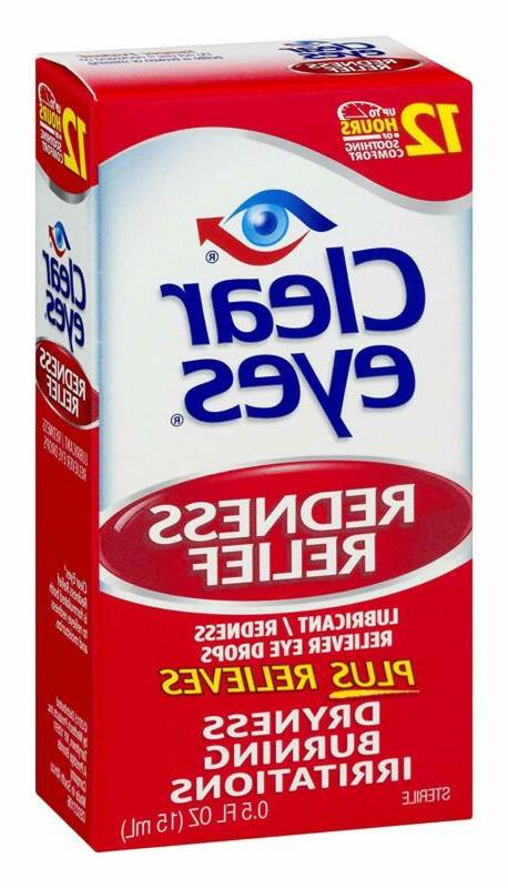 Clear Eyes,Redness Eye Drops, 0.5 Oz, Pack Of