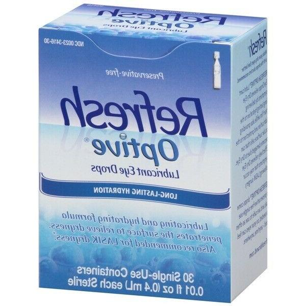 Refresh Optive Lubricant Eye Drops Single Use Containers- 30