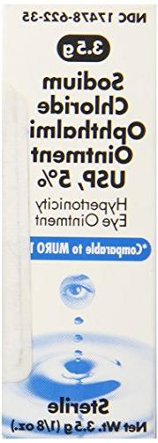 Akorn Sodium Chloride 5 Percentage Ophthalmic Ointment 0 .12