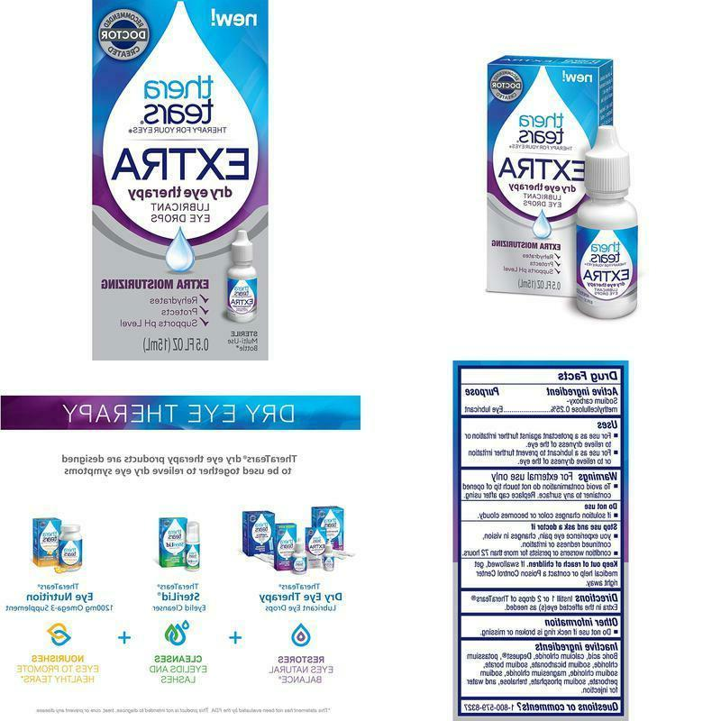 theratears eye drops for dry eyes extra