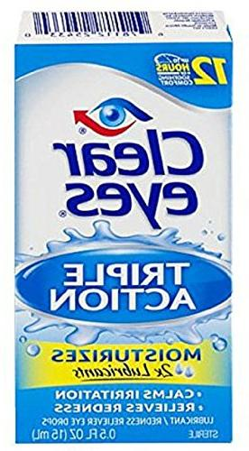 Clear Eyes Triple Action Relief Eye Drops oz