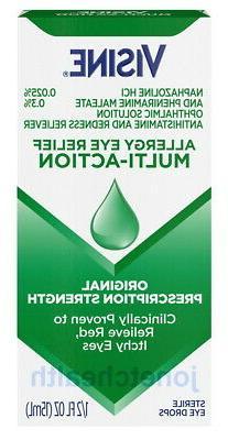 Visine Multi-Action Allergy Eye Relief Antihistamine Redness