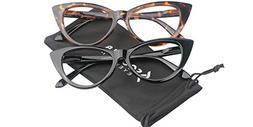 SOOLALA Ladies 50mm Lens Designer Cat Eye Reading Glasses Cu