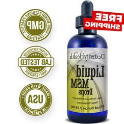 Liquid MSM Drops   4 oz. Dropper-Top Bottle   100% Sterile  