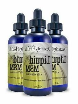 Liquid MSM Drops with Vitamin C, Sterile MSM Eye Drops, Natu