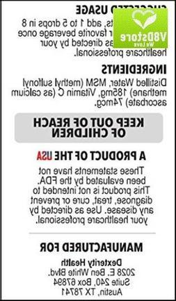 Liquid MSM Drops w/ Vitamin C Sterile MSM Eye Drops Natural