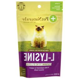 Pet Naturals of Vermont L-Lysine 60 Fun-Shaped Chews for Cat