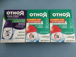 Lot of 3 Rohto eye drops— Max Strength redness relief, Dry