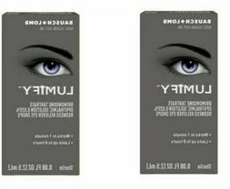 LOT OF TWO Lumify~Eye Drops  .08 oz 2.5ml