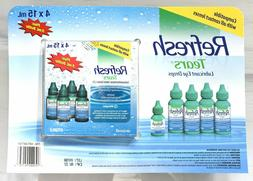 Refresh Tears Lubricant Eye Drops 4+1 Bonus, 65 ml/Per Pack