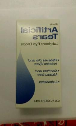 Artificial Tears Lubricant Eye Drops, .5 fl oz Sterile 1 box