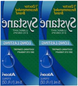 Systane Lubricant Eye Drops-0.5 oz, 15mL, 2 pack