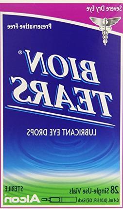 Bion Tears Lubricant Eye Drops-0.015 oz, 28 ct Single Use Vi