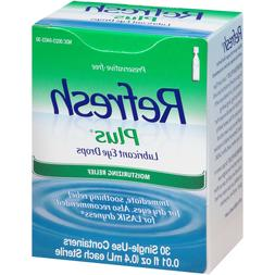 Refresh Plus Lubricant Eye Drops Moisturizing Relief 30 Vial