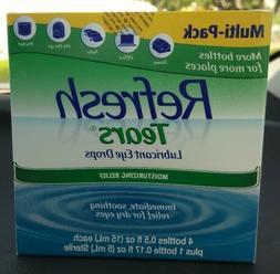 Refresh Tears Lubricant Eye Drops Multi-Pack 4 Plus 1 Bonus