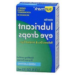 Sunmark Lubricant Eye Drops, Long Lasting - 1/2 oz