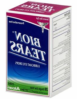 Bion Tears Lubricant Eye Drops Single Use Vials 28 ea