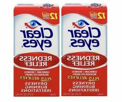 🔥 Clear Eyes Lubricant Redness Relief Eye Drops 0.5 FL OZ