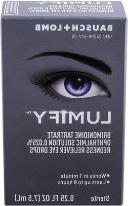 LUMIFY REDNESS EYE DROPS BRIMONIDINE TARTRATE OPHTHALMIC SOL